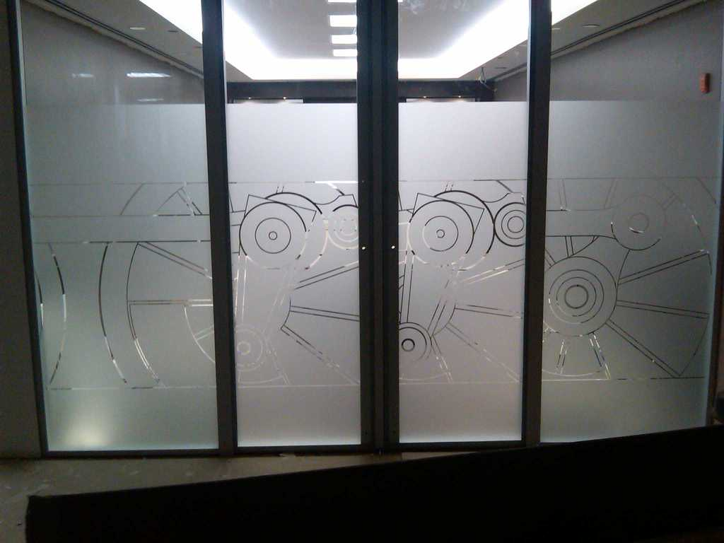 New york window film residential commercial film for Office glass door entrance designs